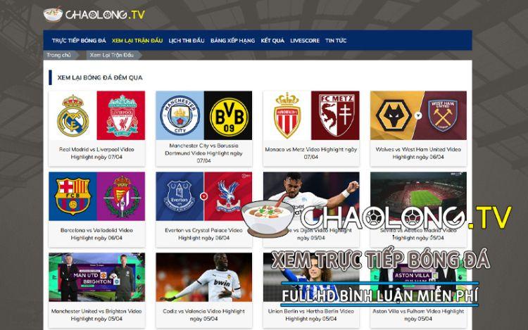 trực tiếp bóng đá Chaolong TV